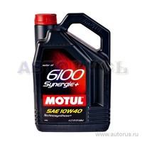 Масло Motul 6100 Synergie+ A3/B4 10W40 моторное полусинтетическое