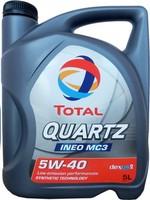 Масло Total QUARTZ INEO MC3 5W40 моторное синтетическое