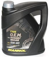 Масло MANNOL 7705 O.E.M. for Renault Nissan 5W40 моторное синтетическое