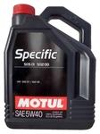 Масло Motul SPECIFIC 502 00/505 00/505 01 5W40 моторное синтетическое