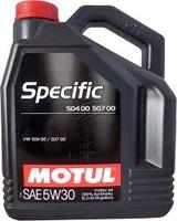 Масло Motul Specific 504.00/507.00 VW 5W30 моторное синтетическое